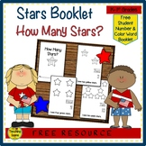 How Many Stars?  Student Counting Booklet  {FREE}