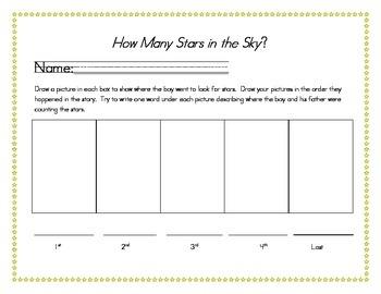 How Many Stars in the Sky? Respond sheet for Journeys Read Aloud-Kindergarten