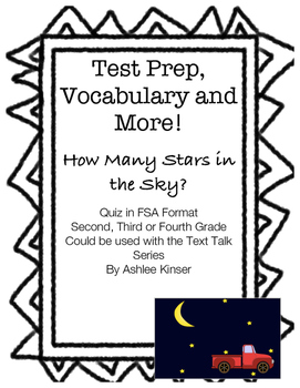 How Many Stars in the Sky? - Text Talk - Comp and Vocabulary - Test Prep