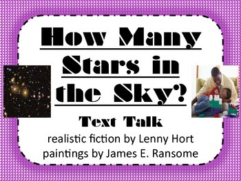 How Many Stars in the Sky? Text Talk Supplemental Materials