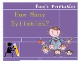 How Many Syllables? 1,2 or 3?