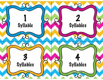 How Many Syllables-A Pocket Chart Activity