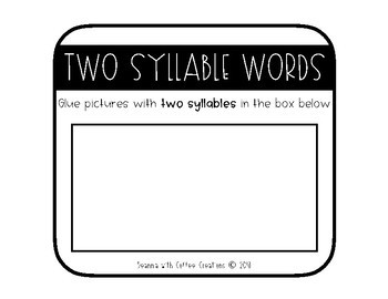 Counting Syllables Craft {4 different activities for 1 - 3 syllable words}