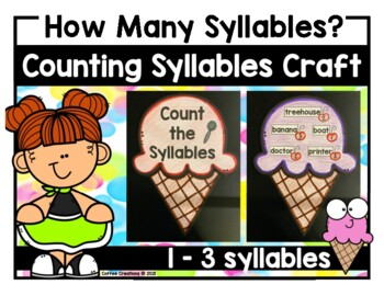Count the Syllables Craft {4 different activities for 1 -