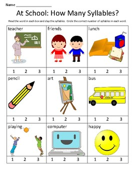 How Many Syllables? Packet