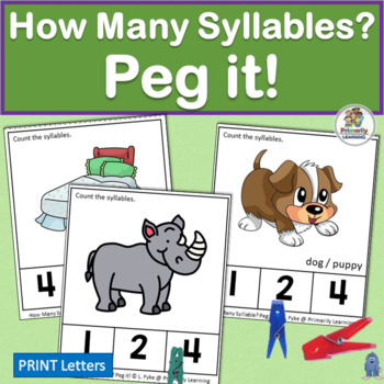 How Many Syllables? Peg it! complements programs like Jolly Phonics.