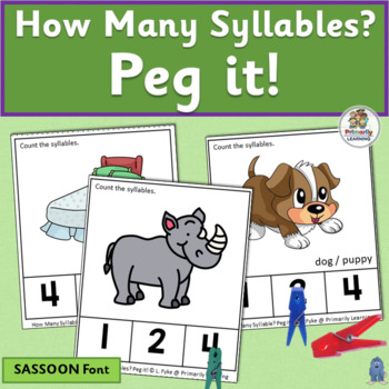 How Many Syllables? Peg it! complements programs like Jolly Phonics. (SASSOON)