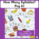 Syllables: How Many Syllables? Peg it!  (SASSOON)