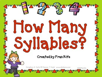 How Many Syllables? Power Point