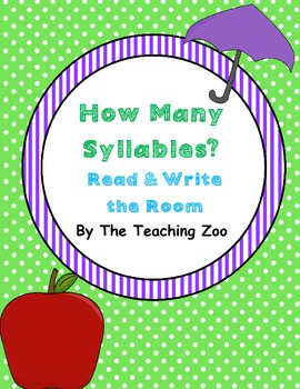 How Many Syllables? Read & Write the Room