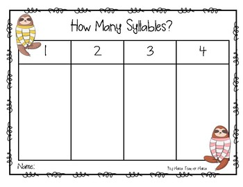 How Many Syllables in Your Classmates' Names?