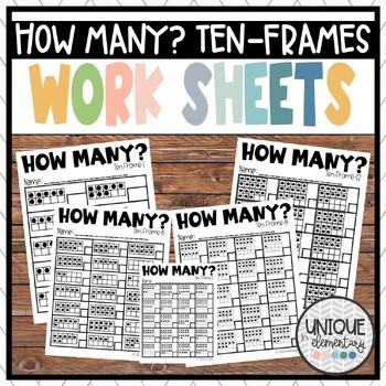How Many? TEN FRAMES-Subitizing & Building Numeracy (0-10) (10-20)
