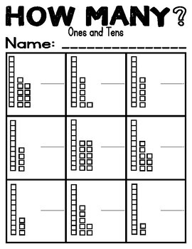 How Many? TENS AND ONES-Subitizing & Building Numeracy (0-10) (10-20)