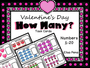 How Many?  Task Cards (Valentine's Day)