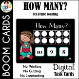 How Many? Ten Frame Counting ● Digital Task Cards ● Boom Cards ● Math