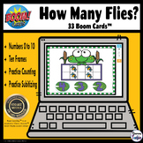 How Many? Ten Frame Counting & Subitizing Boom Cards Digit