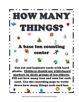 How Many Things? (A base ten counting center)