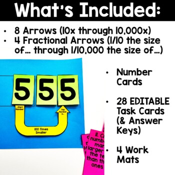 How Many Times {Arrows & Task Cards for Place Value}