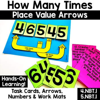 How Many Times {Arrows & Task Cards for Place Value 4.NBT.1, 5.NBT.1}