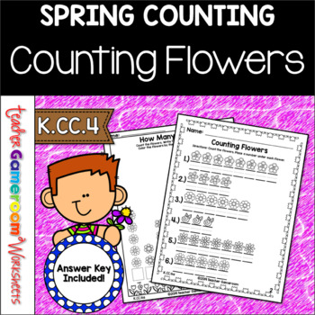 How Many Tulips - Counting Flowers - K.CC.4