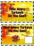 How Many Turkeys Do You See? Adapted Book