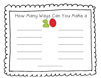 How Many Ways Can You Make 1-10