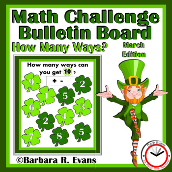 MARCH ACTIVITY: March, March Math Center, March Bulletin Board