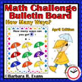 CRITICAL THINKING MATH CHALLENGE:  How Many Ways? -- April