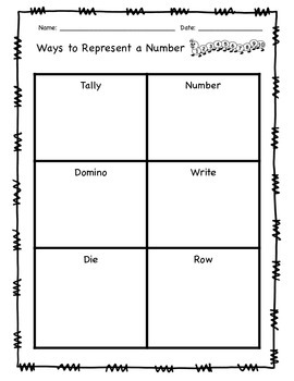 Ways to Represent a Number - FREEBIE