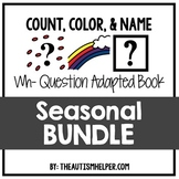 How Many? What Color? What? Adapted Book {SEASONAL BUNDLE}