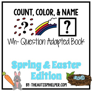 How Many? What Color? What? Adapted Book {SPRING & EASTER}