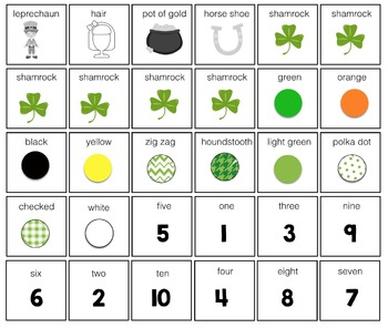 How Many? What Color? What? Adapted Book {ST. PATRICK'S}