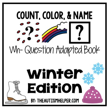 How Many? What Color? What? Adapted Book {WINTER}