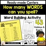 Word Work Activity How Many Words Can You Make?