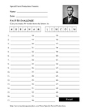 Presidents Day FREE - Abraham Lincoln - How Many Words Can You Make?