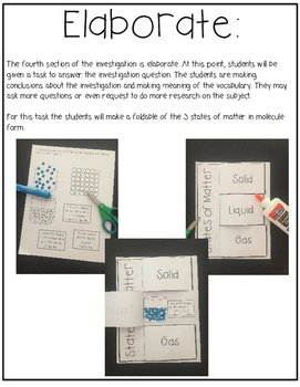 How Matter Changes Investigation 5E