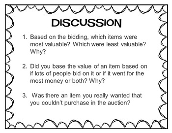 How Much Are Your Values Worth?  Values Auction