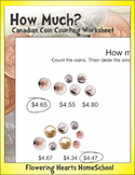 How Much? Canadian Coins Worksheet