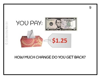 How Much Change Do You Get Back?  Differentiated Task Cards Money Math