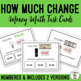 How Much Change Do You Get Back?  Field of 3 Task Cards