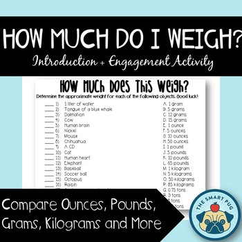 How Much Do I Weigh? Activity - Introduction + Engagement Activity