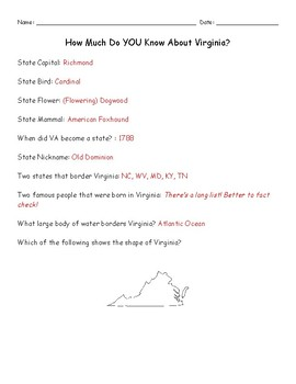 How Much Do YOU Know About Virginia?