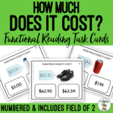How Much Does It Cost? Field of 2 Task Cards