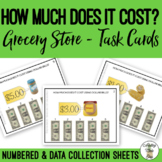 How Much Does It Cost Using Dollar Bills? Grocery Store Task Cards