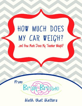 How Much Does Your Teacher's Car Weigh?|Applied & Practica