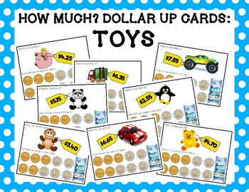 How Much? Dollar Up Cards - Toys