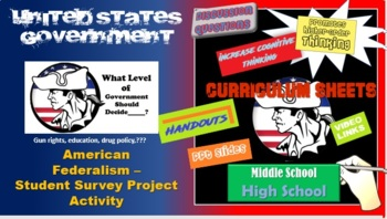 AP Gov -How Much Federal Gov't Control Should There Be? Community Survey Project