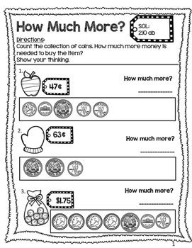 How Much More? Counting Coins