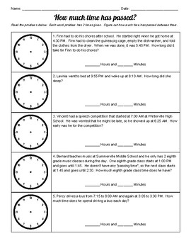 """How Much Time Has Passed?"" Elapsed Time Wkst"
