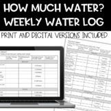 How Much Water? Student Water Use Log